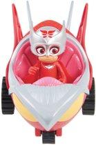 PJ Masks Pyjamahelden Voertuig Turbo Racer met figuur Owlette - Speelfiguur