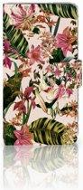 LG Q6 | LG Q6 Plus Uniek Boekhoesje Flowers