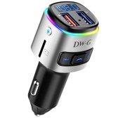 DW-G Bluetooth FM Transmitter / Auto Lader / Adapter / Carkit / Handsfree / MP3 / USB / SD Kaart / Snel Lader / Gratis Verzending