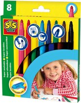 SES Maxi stiften 8 kleuren