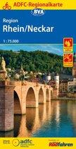 ADFC-Regionalkarte Region Rhein/Neckar, 1:75.000