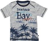 Minymo - jongens shirt - palmen - grijs