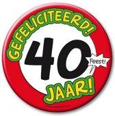 XXL verjaardags button 40 jaar