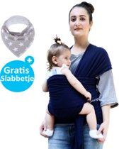 Baby Garden draagdoek donkerblauw | Ergonomisch | Original | Gratis slabbetje
