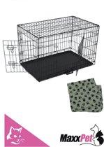 MaxxPet Hondenbench met Plaid - Zwart -76 x 48 x 53 cm