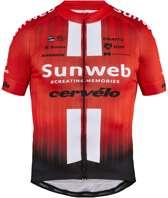 Team Sunweb Replica Ss Fietsshirt - Heren - Sunweb Red