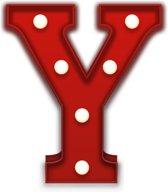 Giggle Beaver Carnival Y - Tafellamp - Rood