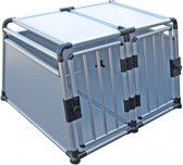 Topmast Transportbox Hondenbox - Aluminium - Dubbeldeurs