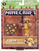 MINECRAFT Steve with Gold Armor Pack - Speelfiguur