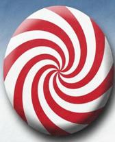 Christmas Colors Candy Red White Swirls School Comp Book 130 Pages