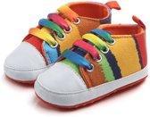 Kleurrijke gympen - Textiel - 18 t/m 21 - Zachte zool - 0 tot 18 maanden