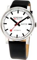 Mondaine Evo Big A132.30348.11SBB Horloge - Leer - Zwart - Ø40 mm