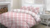 Snoozing Lola - Flanel - Dekbedovertrek - Eenpersoons - 140x200/220 cm + 1 kussensloop 65x65 cm - Roze