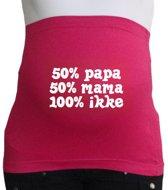 Buikband | M | roze | 50% papa 50% mama 100% ikke