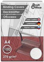 schutbladen ProfiOffice A4 270gr. karton 100 stuks leer grijs