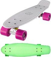 """Ridge Retro board 22"""" Glow with pink wheels"""