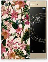Sony Xperia XA1 Plus Uniek TPU Hoesje Flowers