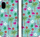 Mobigear Tropical Design Wallet Bookcase Hoesje 2 iPhone Xs Max