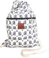 Rugtas Peacock Blue   T-Bags   100% Katoen   14 Liter   Blauw & Wit   Comfortabel