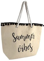 Luna Cove Summer Vibes Strandtas Shopper Canvas Jute