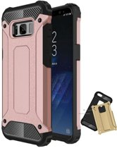 Teleplus Samsung Galaxy S8 Double Layer Tank Cover Case Rose Gold hoesje