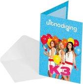 16x Uitnodigingen van de bekende meidengroep K3! - Kinderfeestje/verjaardag artikelen