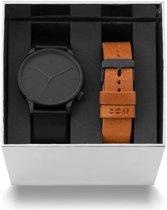 Komono Winston giftset horloge en horlogeband  - Zwart