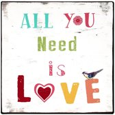 Tekstbord: All you need is love