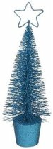 Glitter kerstboompje blauw 30 cm
