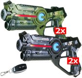 4 Light Battle laserpistolen met remote control | lasergame spel
