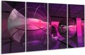 Glasschilderij Modern | Paars, Roze | 160x80cm 4Luik | Foto print op Glas |  F004370