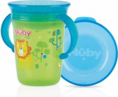 Nûby - Oefenbeker - 360° Wonder Cup met handvatten - 240ml - Groen - 6m+