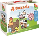 Jumbo babydieren puzzels 4-in-1