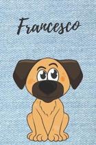 Francesco Notizbuch Hunde / Malbuch / Tagebuch / Journal / DIN A5 / Geschenk: individuelles personalisiertes blanko Jungen & M�nner Namen Notizbuch, .