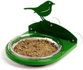 Raamvoederschaal met vogelsilhouet groen