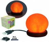 Mini zoutlampje bol oranje USB + LED - 9 - 450 - L