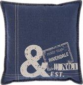 Riverdale No.1 - Kussen - 45x45cm - blauw
