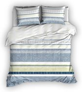 Romanette Hamptons - Dekbedovertrek - Lits-jumeaux - 270x200/220 cm + 2 kussenslopen 60x70 cm - Blauw