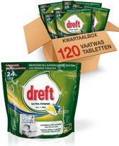 Dreft All in One Lemon - Kwartaalbox 120 stuks - Vaatwastabletten