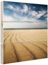 Kust landschap in Europa Hout 50x50 cm - Foto print op Hout (Wanddecoratie)