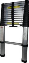 Telescopische ladder 13 treeds - Werkhoogte 4.80m - Aluminium
