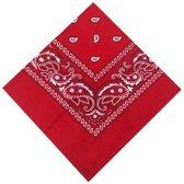 Stoere rode zakdoek bandana voor kinderen/ tieners - one size