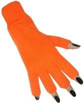 Vingerloze handschoen oranje