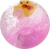 Toi-toys Stuiterbal Glitter Met Licht Roze 7 Cm
