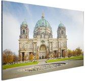 Dom van berlijn bij dag Aluminium 30x20 cm - Foto print op Aluminium (metaal wanddecoratie)