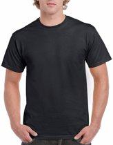Zwart katoenen shirt voor volwassenen L (40/52)