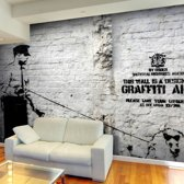Fotobehang - Banksy - Graffiti Area