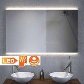 Design badkamer spiegel met indirect strijklicht en spiegel verwarming 100×60 cm