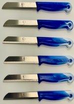 Solingen - Schilmes Superscherp met kartel - Blauw (6x)