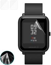 2 PC's ENKAY Hat-Prins voor Xiaomi Huami AMAZFIT Smart Watch TPU Screen Protector